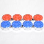 Shuffleboard Puck Set Import 4-Red/Blue